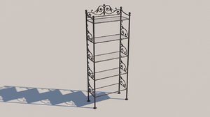 3D model forged bookcase