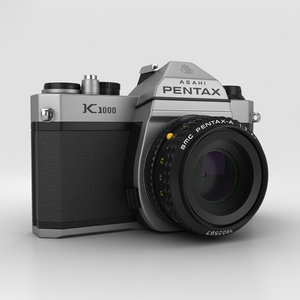 3D pentax k1000 k