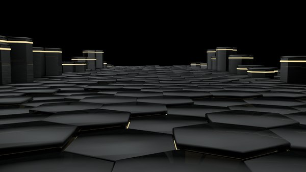black hexagons 3D model