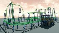 pbr roller coaster model