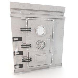 3D armored vault door