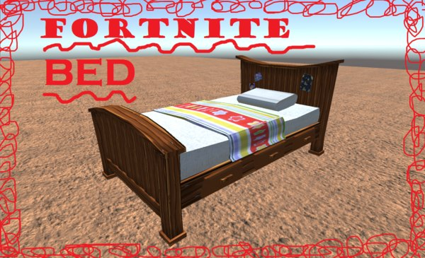 bed fortnite 3D model
