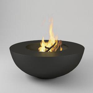 metal pot bonfire 3D model