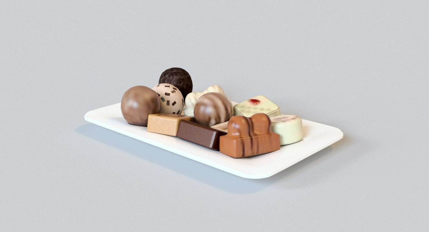 plate cookies 3D model