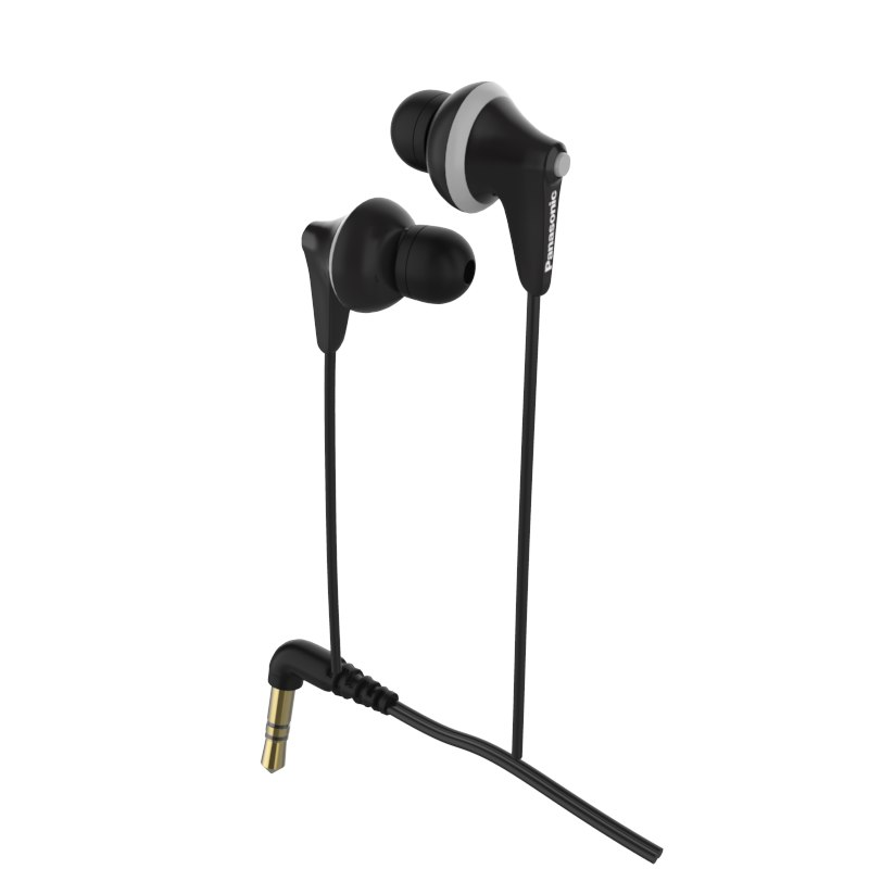 3D panasonic hje125e earphones black model