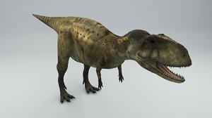 3D abelisaurus dinosaur rigged