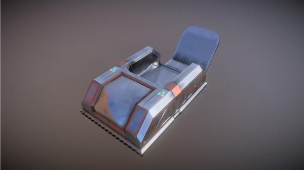 backpack sci-fi model