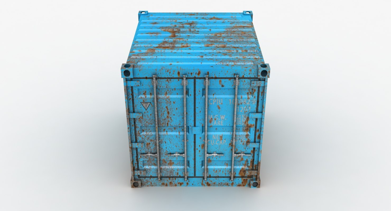 rusty container azure gray model