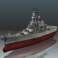 uss wisconsin bb-64 3D model