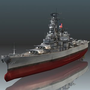 uss wisconsin bb-64 3D model