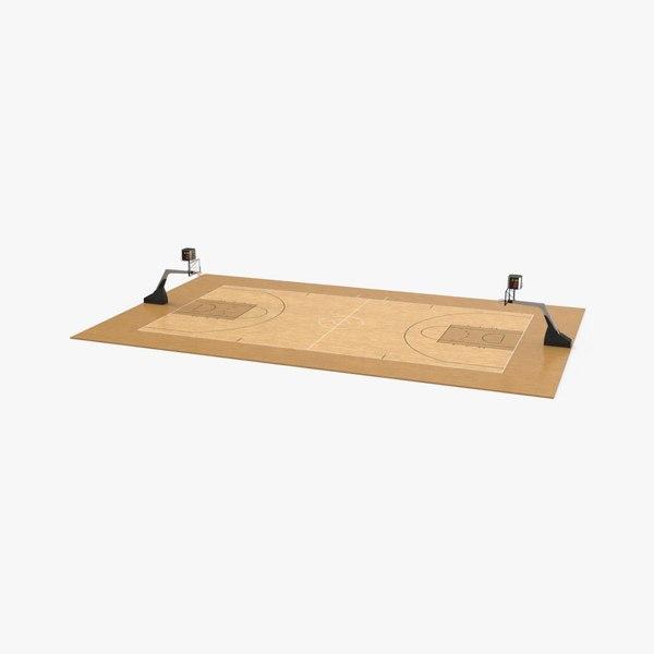 3D basketball-court model