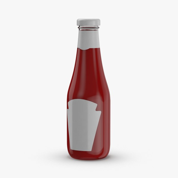 condiment-bottles-03---ketchup-label 3D