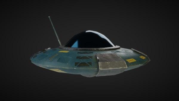 3D spaceship rigged blender