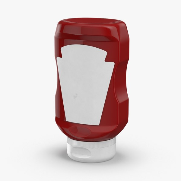 condiment-bottles-02---ketchup-label 3D model