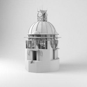 3D model epicyclarium lebbeus woods