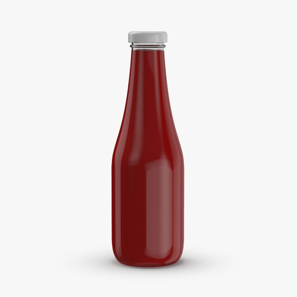 3D condiment-bottles-03---ketchup-no-label