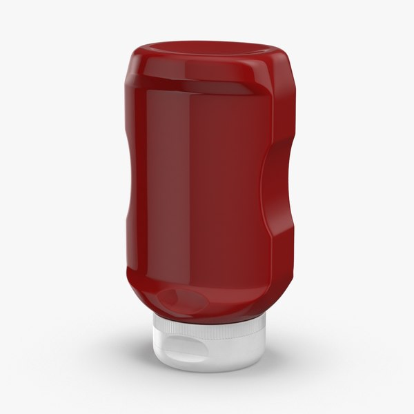 condiment-bottles-02---ketchup-no-label 3D model