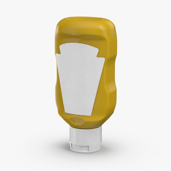 condiment-bottles-02---mustard-label model