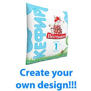 3D milk sachet