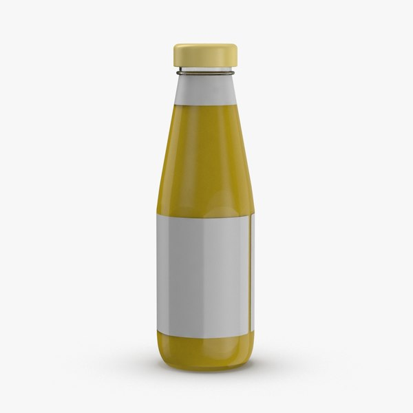 condiment-bottles-03---mustard-label 3D