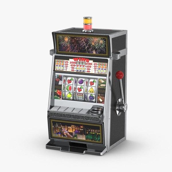 slot-machine---random-symbols 3D model