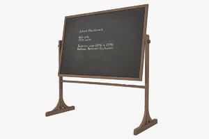 school blackboard 3D