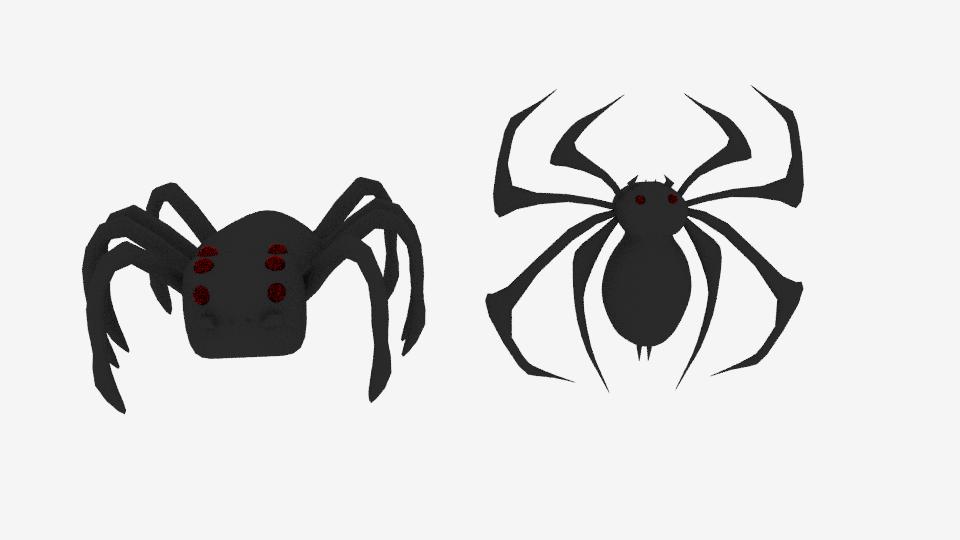 3D model spider logo emblem