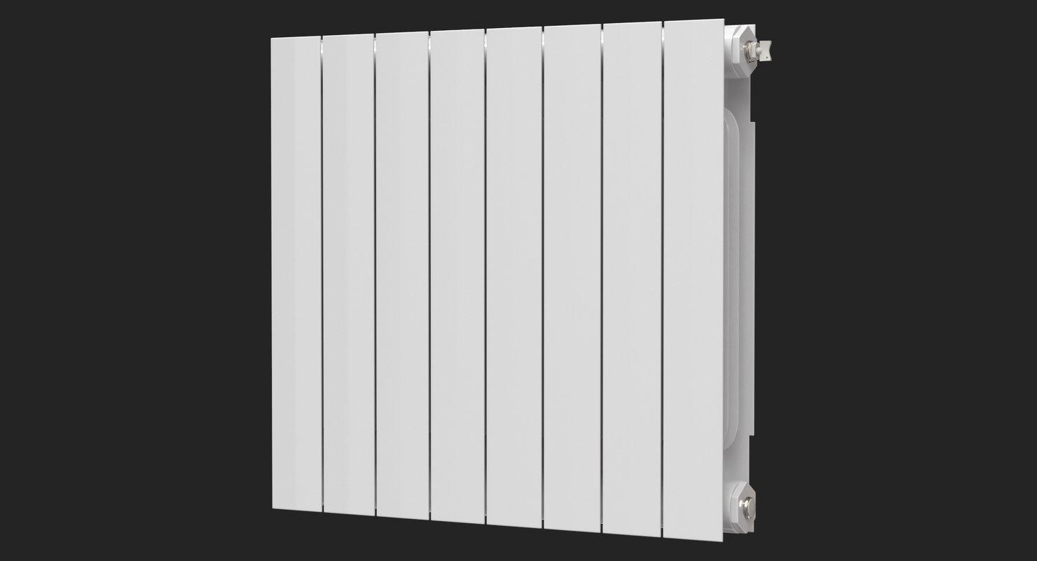 realistic modern central heating 3D model