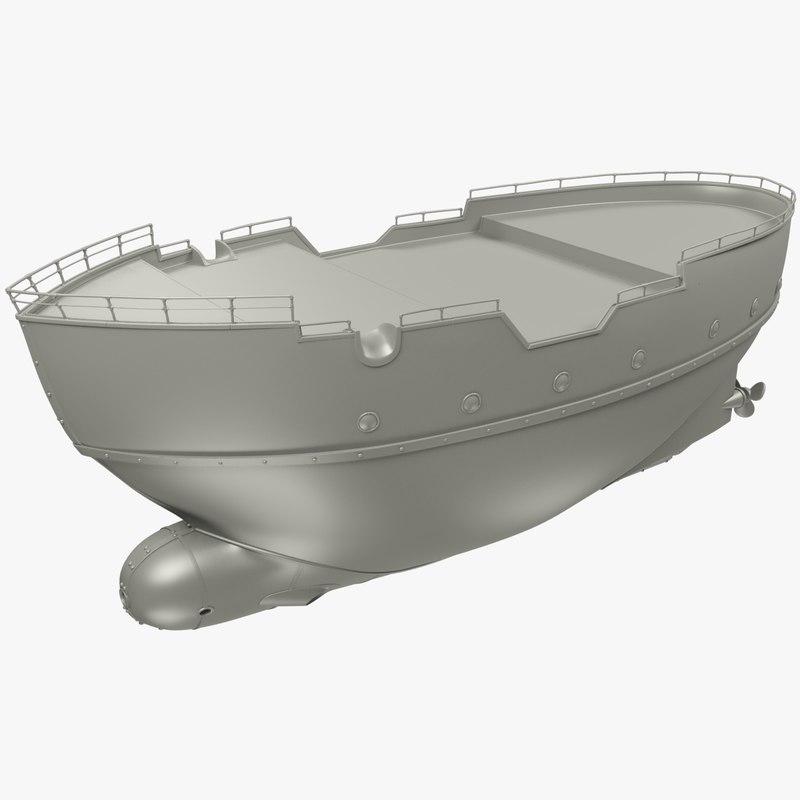3D model ships deck