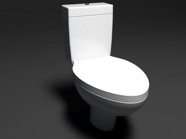 3D wc toilet model
