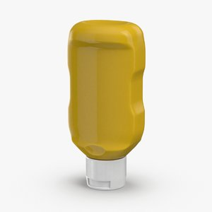 3D model condiment-bottles-02---mustard-no-label