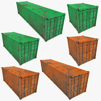 rusty container green orange model