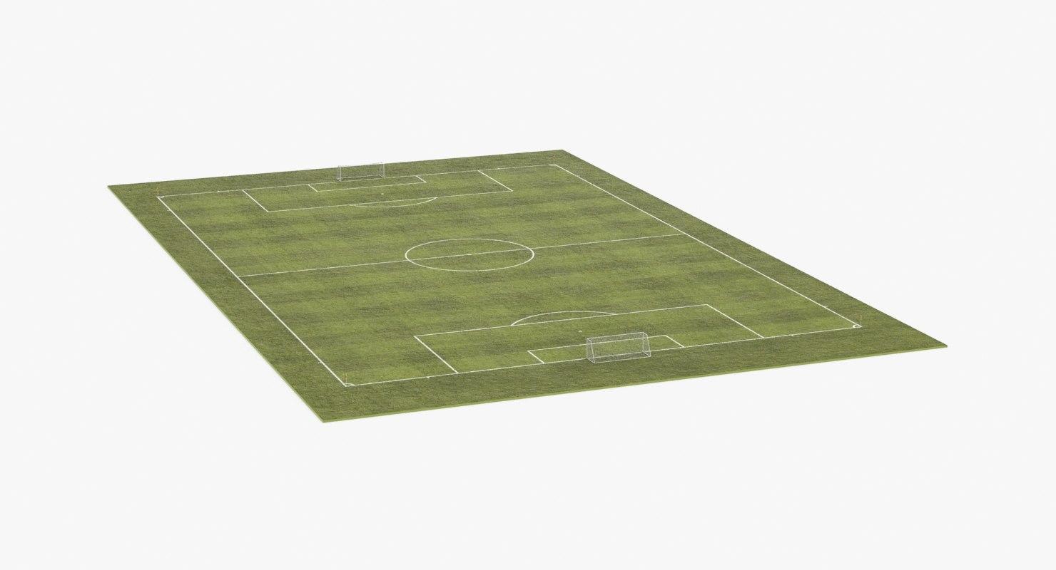 3D soccer-field model