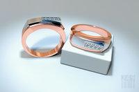 jewelry men diamond ring model