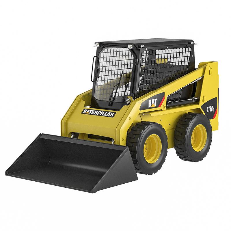 skid steer loader 3D model