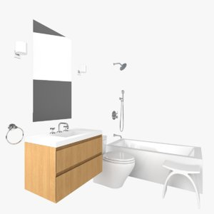 3D model bathroom vanity mirror
