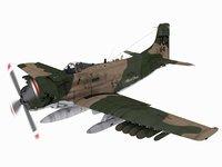 douglas a-1 skyraider 3D model