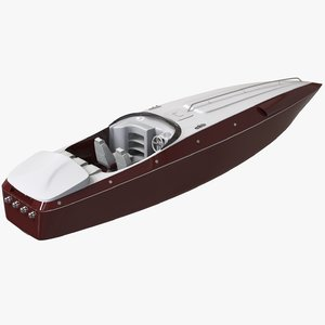 boat powerboat speed 3D model