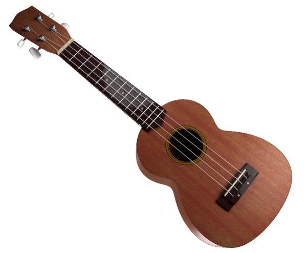 3D model music ukulele instrument