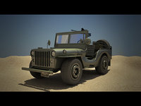 3D millitary jeep model