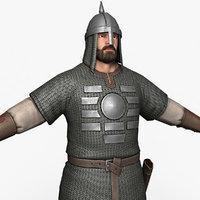 medieval warrior 3D model