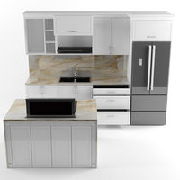 kitchen building home model