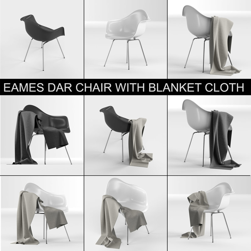 eames plastic armchair dax: 3D