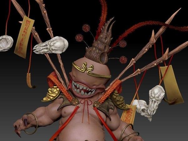 3D wukong demon model