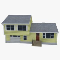 3D realistic split level house
