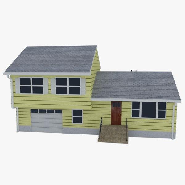 3D realistic split level house