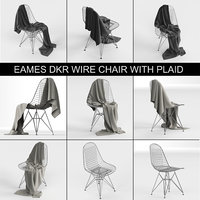 Wire Chair DKR: Charles & Ray Eames of 1951 with blanket cloth