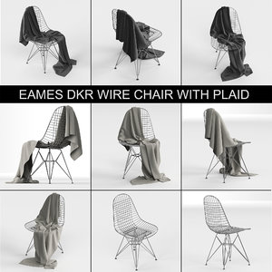 3D vitra wire chair dkr: