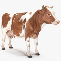 3D cow rigged model