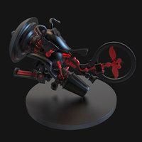steampunk motorcycle concept motor cycle 3D